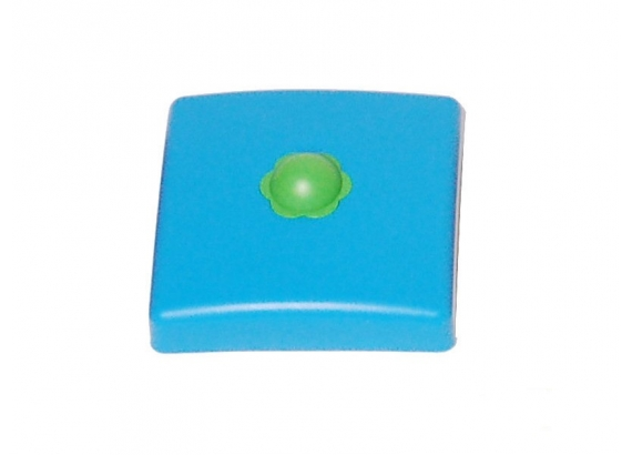 Plastic pole cover  90 mm blue