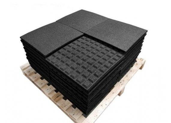 Pryžová podložka čierna 50x50 cm, 25 mm ORION - 1