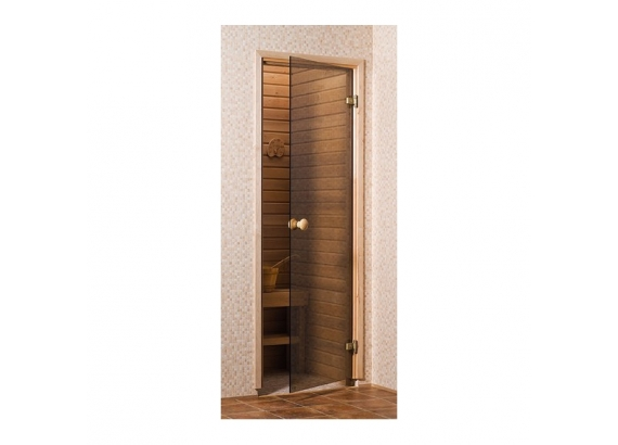 Saunové dvere 6x19 3R, bronz,  586x1890 mm