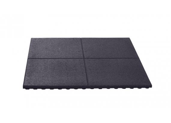 Pryžová podložka čierna 100x100 cm, 30 mm