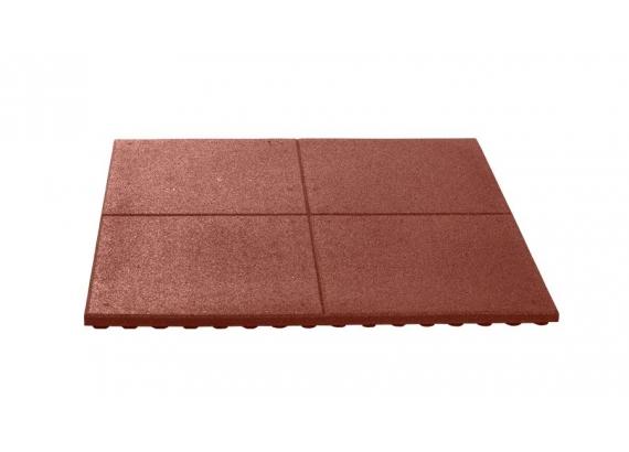 Pryžová podložka červená 100x100 cm, 30 mm