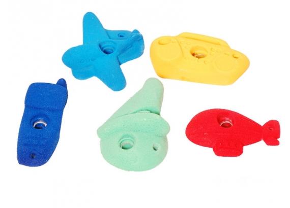 Lezecké kamene tvary  - set 5 ks