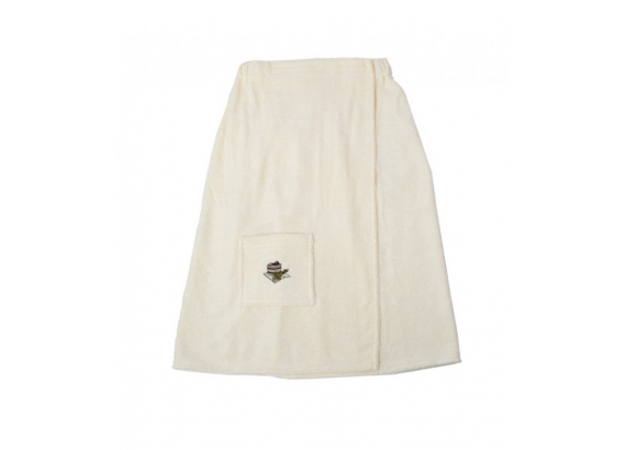 Kilt do sauny 100% bavlna, 55x150 pánsky - krémový