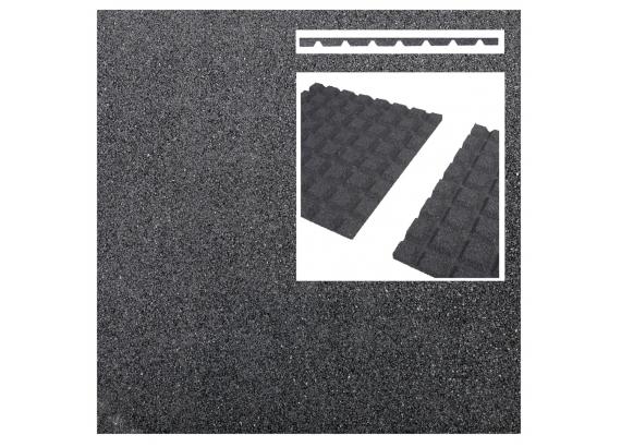 Pryžová podložka 50x50 cm, 25 mm, grey