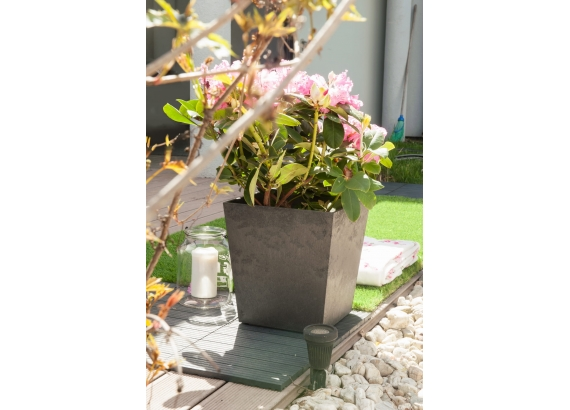 Gumový kvetináč Sonata 33 -  svetlo šedá