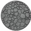 MH Gumový nášľap - kameň 45 cm, sivá