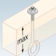 Hák na hojdačku typ D M12/130 mm