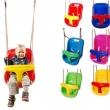 Hojdačka - BABY swing modrá/červená - 2