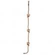 lezecké lano s drevenými uzlami