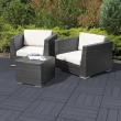 Gumová terasová dlažba - Cosmop. 45x45 cm, GR