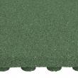 Pryžová podložka 50x50 cm, 50 mm, zelená