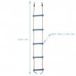 Plastový lanový rebrík  5 priečkový - žltý