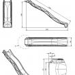 KBT šmýkačka 3,0 m TSURI - tyrkysová