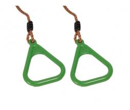 Hojdacie kruhy - limetková Triangular plastic
