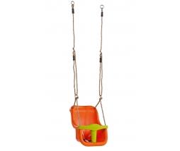 Detská hojdačka LUXE orange/lime