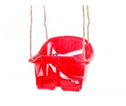 Hojdačka - BABY swing ECO červená