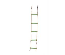 JF Plastový lanový rebrík  5 priečkový - limetkový