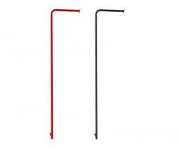 JF Metal firemans pole - kovová šplhacia tyč -red