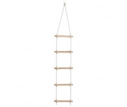 Drevený lanový rebrík KBT  2,1 m 5P, PP2,5