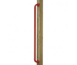 Kovové madlo KBT  500 mm červené