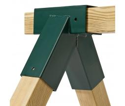 Rohový uholník na hojdačky 90x90 - 90st. zelen
