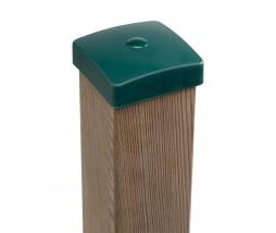 KBT Plastic pole cover 100 mm zelená