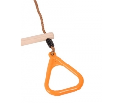 Hrazda s kruhmi - orange Wooden Ring trapeze