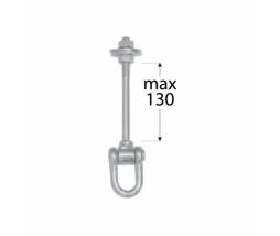 Hák na hojdačku typ C M12/130 mm