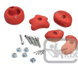 KBT Lezecké kamene červené medium - set 5 ks - 1