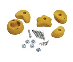 KBT Lezecké kamene žlté medium - sada 5 - 1