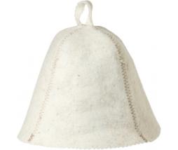 VITAU klobúk do sauny biely - vlna mix