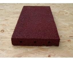 Obrubník  500x230x40 mm, červená - pryž