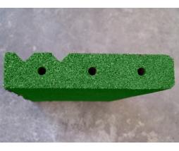 Obrubník  500x230x40 mm, zelená - pryž