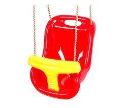 Hojdačka - BABY swing červená/žltá