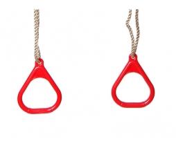 Hojdacie kruhy - červená Triangular plastic