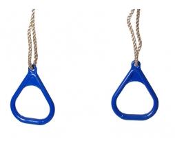 Hojdacie kruhy - modrá Triangular plastic