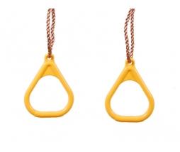 Hojdacie kruhy - žltá, Triangular plastic