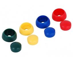 Plastic bolt cover 12 mm - červená
