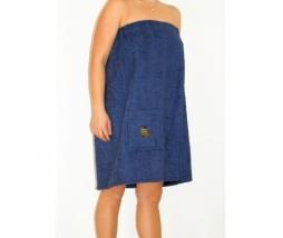 Kilt do sauny 100% bavlna, 75x150 dámsky - modrá