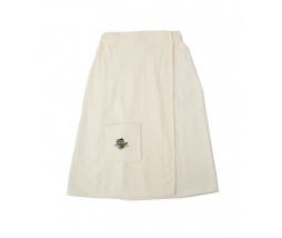 Kilt do sauny 100% bavlna, 75x150 dámsky - biely