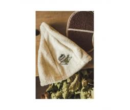 klobúk do sauny krémový