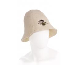 klobúk do sauny 100% vlna