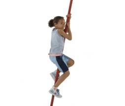 KBT Metal firemans pole - kovová šplhacia tyč červ