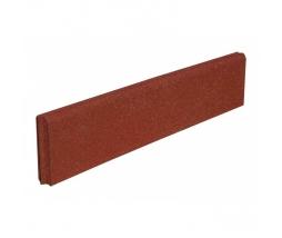 Obrubník  980x200x50 mm, červená - pryž