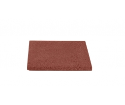Pryžová podložka 40x40 cm, 20 mm, červená