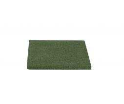 Pryžová podložka 40x40 cm, 20 mm, zelená