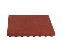 Pryžová podložka 50x50 cm, 50 mm, červená