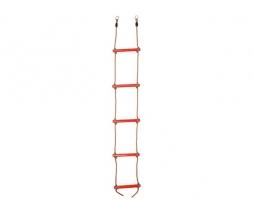 Plastový lanový rebrík  5 priečkový - červený