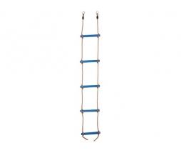Plastový lanový rebrík  5 priečkový - modrý