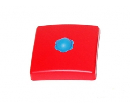 Plastic pole cover  90 mm red